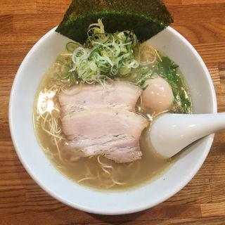 無化調塩ラーメン+玉子&ネギトッピング(らーめん 空王士 )