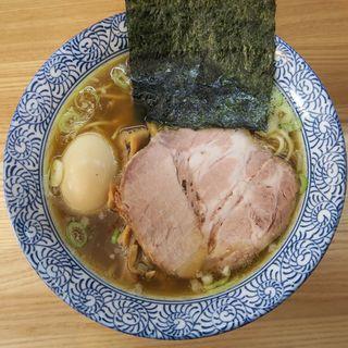 煮玉子そば(頓知房 (とんちぼ))