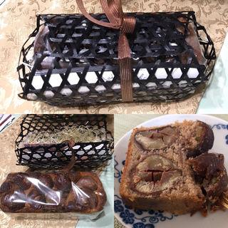 渋皮煮栗のパウンドケーキ(和洋折衷料理店「獏」 (ばく))