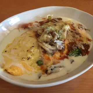 ラザニア風チーズ焼きオムライス Lサイズ(オムヒコ (OMUHICO))
