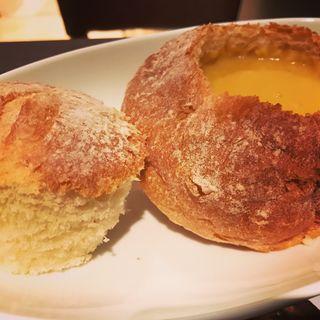 スープパン(北海道コーンポタージュ)(ファーストキッチン・ウェンディーズ 梅田HEPナビオ店)