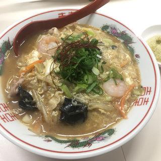 玉子あんかけチャンポン(担々麺 信玄 (タンタンメン シンゲン))