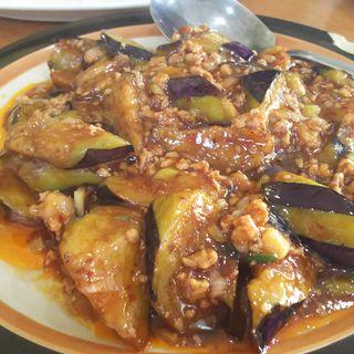 麻婆茄子'(ナスの挽肉辛味味噌炒め)(中国料理 金春新館 (コンパルシンカン))