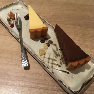 幻のタルト(チーズ&ラムレーズンチョコレート)(オ・ボルドー・フクオカ )