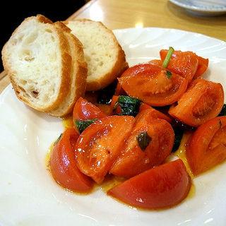 アメーラトマトバジル炒め(わくい亭)