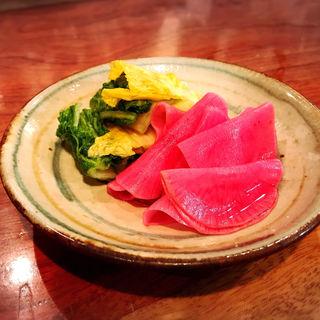 三浦農家の漬物(海おでん「日本酒はなたれ」)