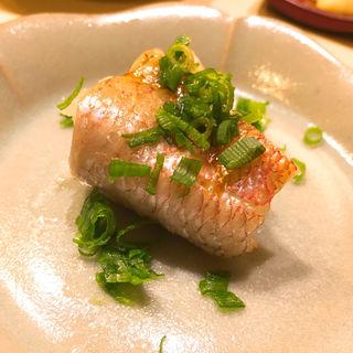 喉黒の蒸し寿司(鮨 なんば )
