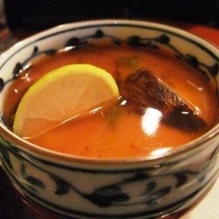 熊本産松茸の茶碗蒸し(新和食 きくい )