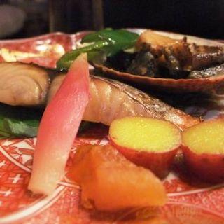 長崎産黒アワビのバター焼き&さわらの西京焼き(新和食 きくい )
