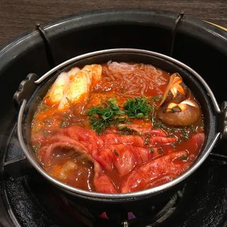 韓国風すき焼き(焼肉 銀座コバウ )
