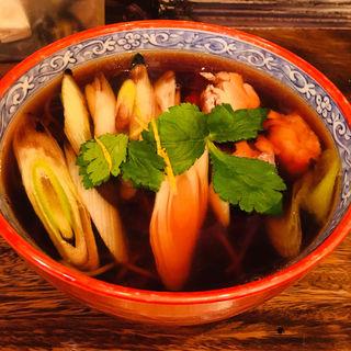汁そば いわい地鶏と焼き葱(みつばち )
