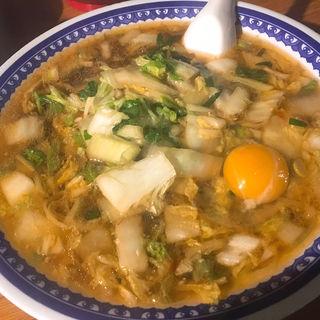 彩華ラーメン大生卵(彩華ラーメン 屋台 (天理ラーメン))