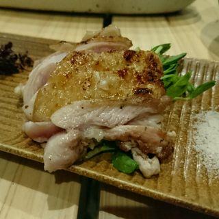 廣島赤鶏もも肉タタキ(京橋チャコール)