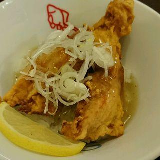 地鶏のあんかけ丼~レモン風味~(彩色ラーメン きんせい夢風 (【旧店名】きんせい 総本家 高槻栄町))