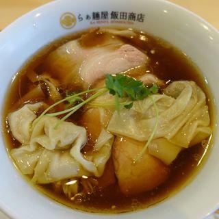 ワンタン入り醤油チャーシュー(らぁ麺屋 飯田商店 )