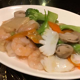 海の幸とブロッコリーの塩味炒め(香港楼 )