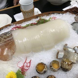 活イカ(活魚 なべしま (かつぎょ なべしま))