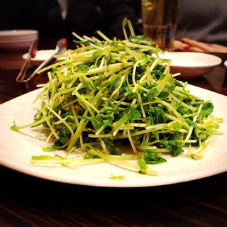 豆苗のニンニク炒め(Verdi Dining Restaurant (ヴェルディダイニングレストラン))