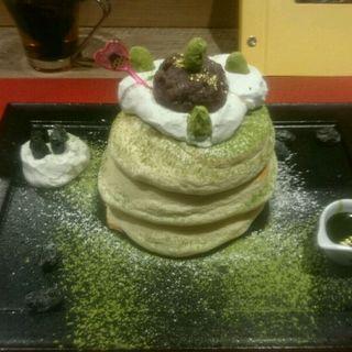 新年バージョン 抹茶パンケーキ(Riz Labo Kitchen)