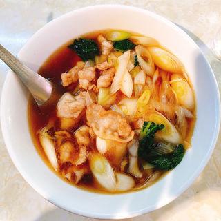 爆肉麺 ネギ肉炒めソバ(水新菜館 (ミズシンサイカン))