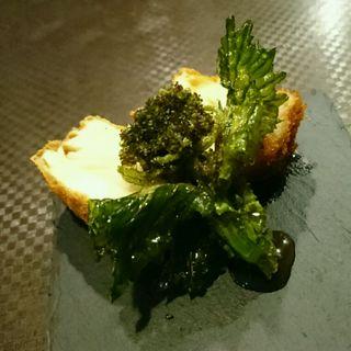 ブリと厚揚げのサンド 菜の花添え(つつみ屋 )