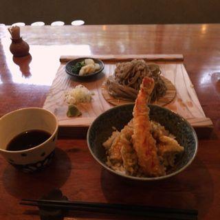 そば 冷 + 天丼 セット(蕎麦切り大城 )