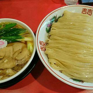 つけそば(特)+豚足トッピング(カドヤ食堂 本店 (かどやしょくどう))