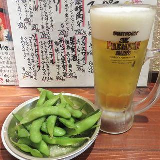 生ビール(まぐろやナポレオン 赤坂店)