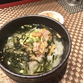 地鶏のなめろう茶漬け(日本酒バル 琥珀 )