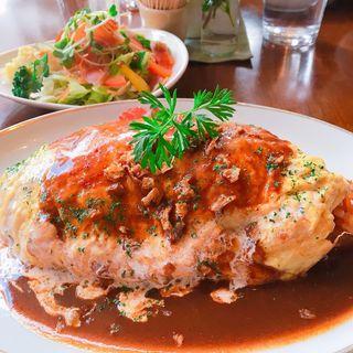 オムライスランチ(食堂とカフェ Pinnata)