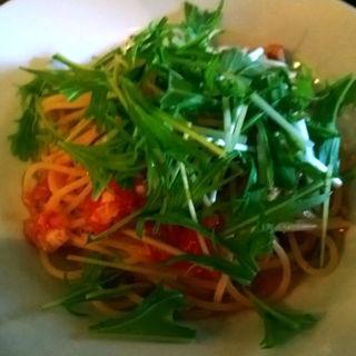 鯛と水菜のフレッシュトマトソースのパスタ(ロルマ (L'orma))