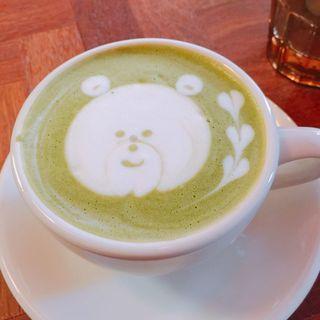 西尾の抹茶ラテ(喫茶ゾウメシ)