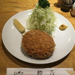 ジューシーメンチ定食(勝漫 (かつまん))