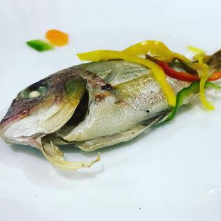 季節の魚介アンティパスト(キュラソー)