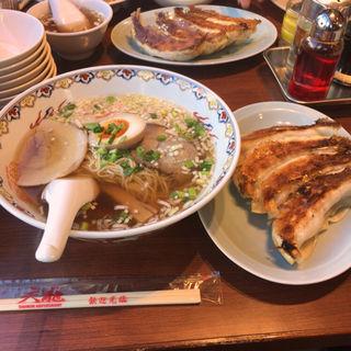 焼き餃子4個 ラーメン(銀座天龍 (ギンザテンリュウ))