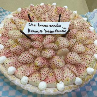 白イチゴ 初恋の香りのタルト(キルフェボン 横浜店 (Quil Fait Bon))