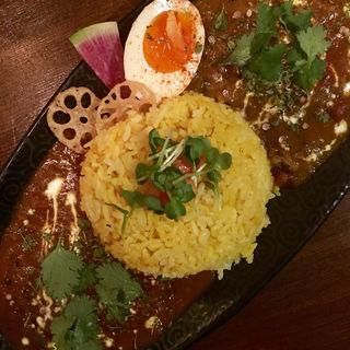 寒ブリのヴインダルー&豚バラ肉と牛蒡のマサラカレー(Trippin Spice)
