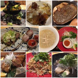 料理 各種(鳥と魚 )
