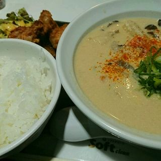 かす汁定食(麺とかき氷 ドギャン)