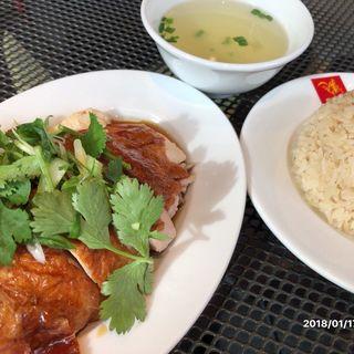 ローストチキンライス/香り米・スープ付