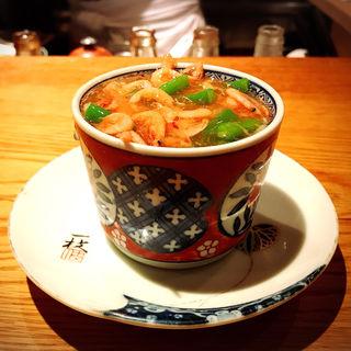 桜海老と白子茶碗蒸し