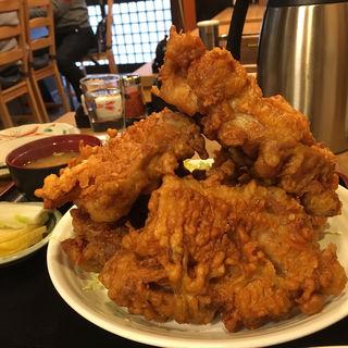 鶏のからあげ定食  5個(ライス大)(福味(ふくみ))