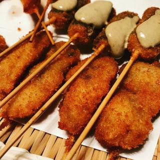 牡蠣の串カツ(串八 四条大宮店 )
