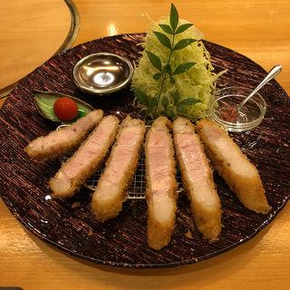 山形豚特選サーロインロースカツ定食(epais SATSUKIGAOKAKITA)