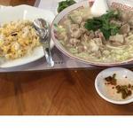 羊肉麺と半チャーハン