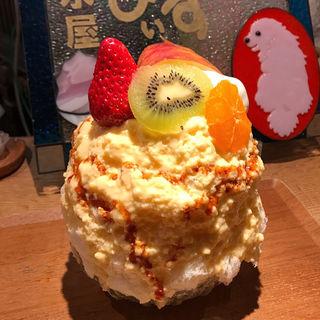 フルーツカスタード(氷屋ぴぃす )