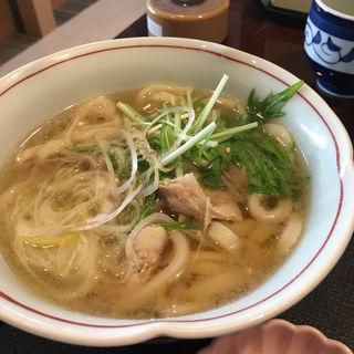 水菜と豚肉のハリハリうどん定食(藍屋 横浜霧が丘店 )