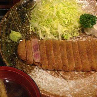 牛カツ 麦飯 とろろセット(牛かつ もと村 渋谷店 )