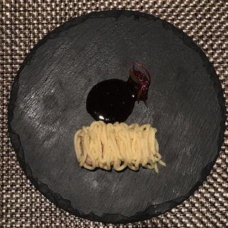 レバームースとサツマイモのモンブラン仕立て(ブラッスリー ハルナ (HARUNA brasserie))