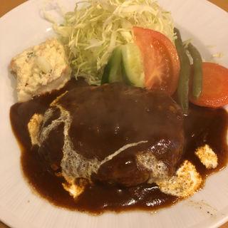 ハンバーグステーキ定食(洋食の店 ジューシィ )